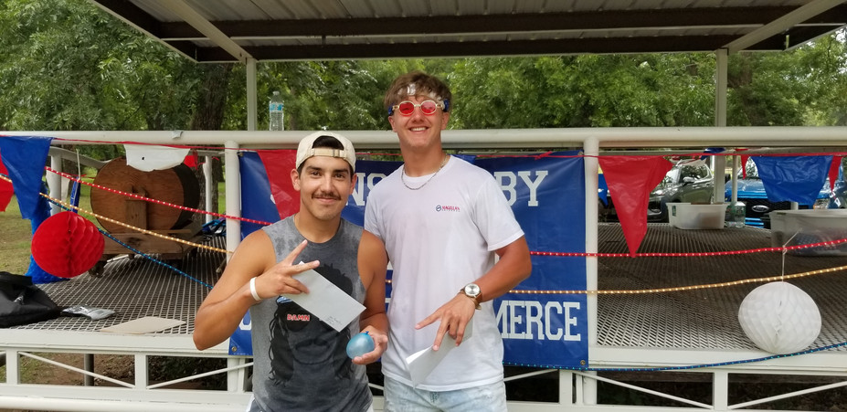 13 and Over Water Balloon Toss 2nd Byrum Eidson and JC Herring