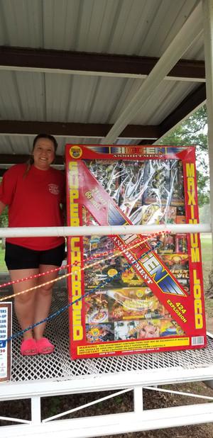 Fireworks Recipient Crystal Sander