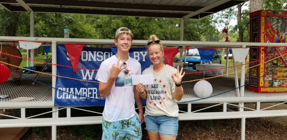13 and Over Water Balloon Toss 3rd Grace Myers and Blake Vincent