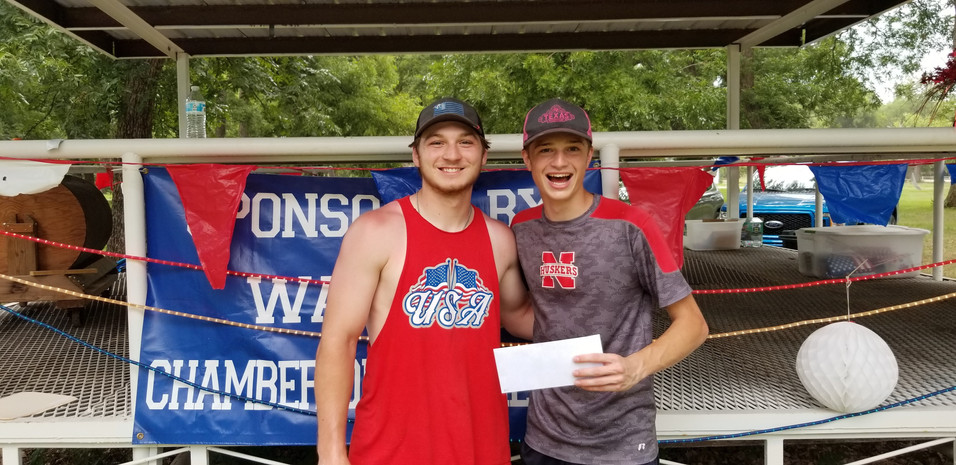 13 and Over 3 Legged Race 3rd Gage Schroeder and Simon Tiede
