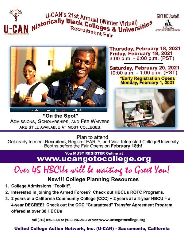 WCF U-CAN - 2021 Winter Virtual Recruit