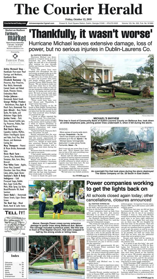 Hurricane Michael Front