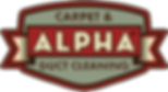 Alpha Carpet, Duct and Dryer Cleaning Company Logo