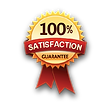 100% Satisfaction Carpet Cleaning Guaranteed Badge