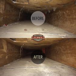 Alpha Carpet & Duct Cleaning Before & Af