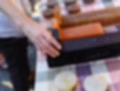 Customer examines bar soap
