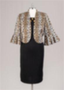 28200 2 piece plus size jacket dress
