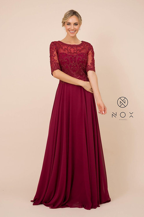 MOTHER OF THE BRIDE EVENING DRESS STYLE Y538