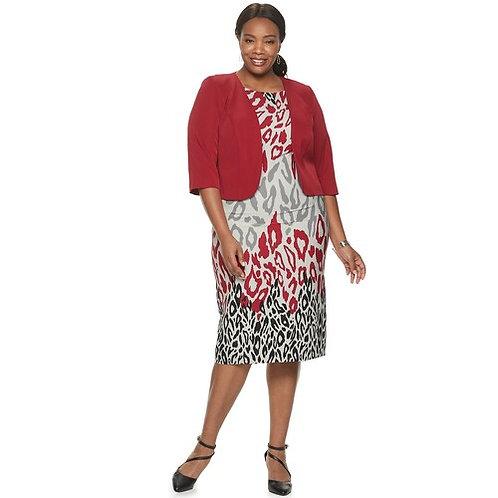Plus Size Jacket Dress Style 28107 Sizes 12-18