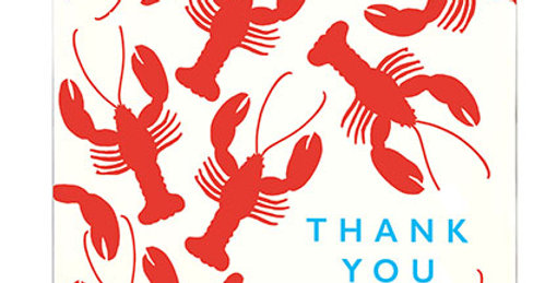 Lobster Note Card