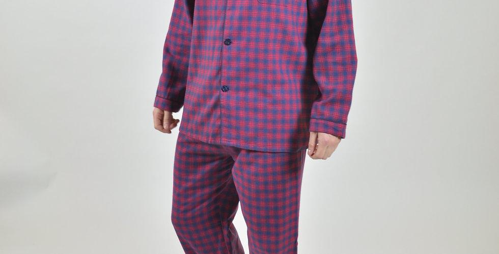 Red Check Brushed PJ Set