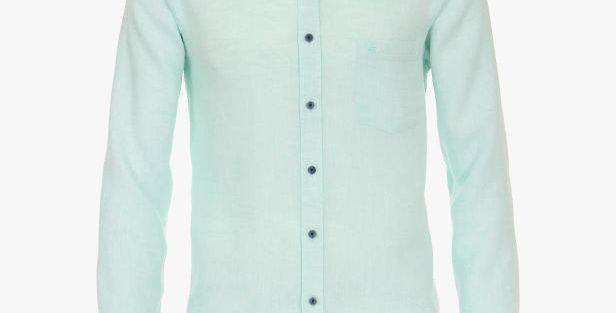 Mint Linen Long Sleeved Shirt