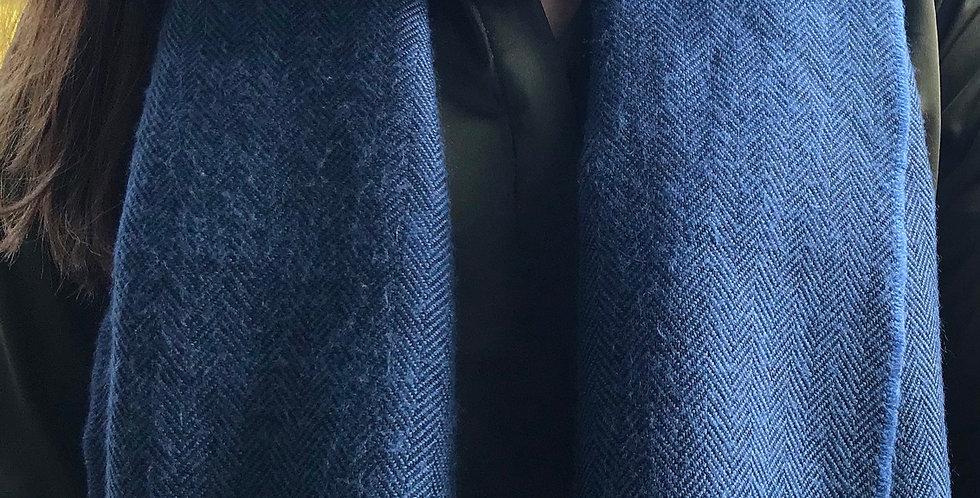Blue Herringbone Scarf