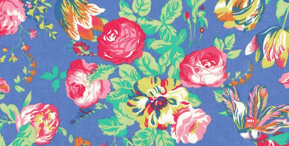 Liberty Print Blue 'Magical Bouquet' Bow Tie & Pocket Square Set