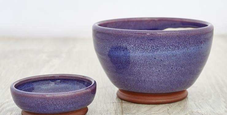 Purple Olive & Stone Bowl Set