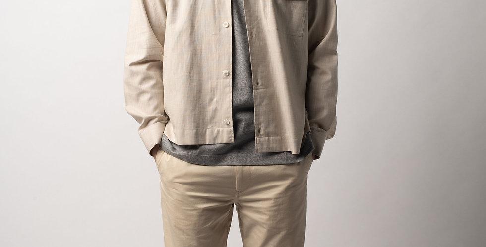 Beige Shirt Jacket