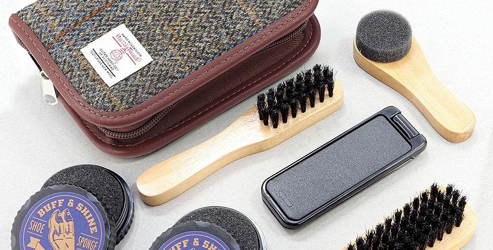 Brown Harris Tweed Shoe Kit