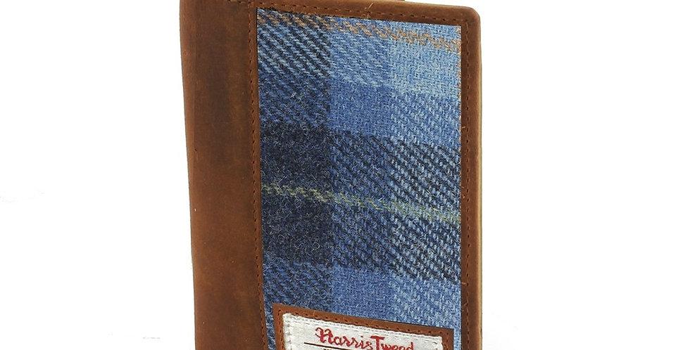 Blue Harris Tweed Passport Holder