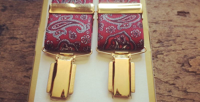 Red Paisley Braces