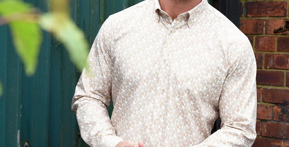 Brown Palm Leaf Shirt