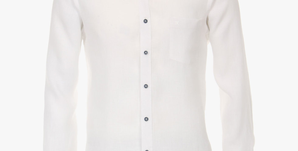 White Linen Longsleeve Shirt