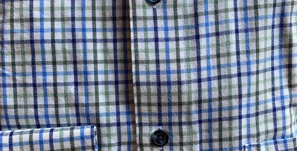 Green & Blue Wide Check Shirt