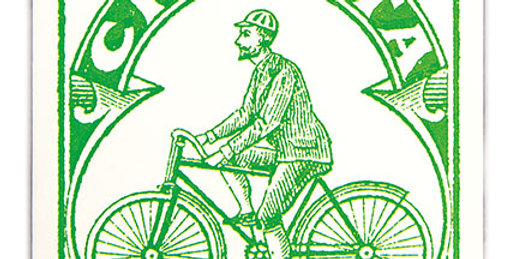 Green Ciclista Note Card