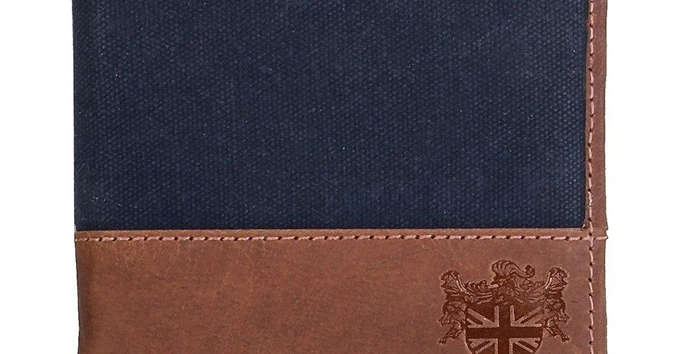 Navy Waxed Canvas Wallet