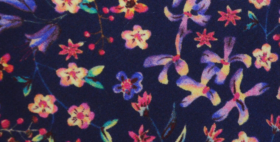 Liberty Navy Floral Fabric Pocket Square