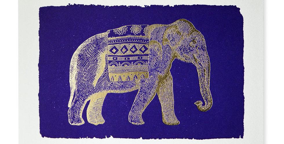 Blue Elephant Note Card