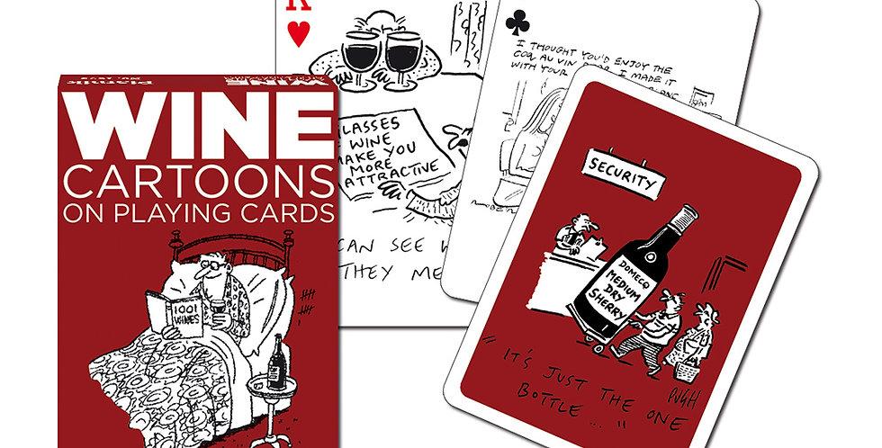 Wine Cartoon Playing Cards