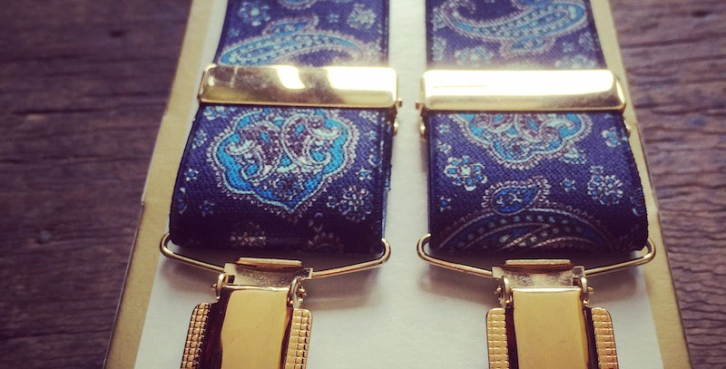 Blue Paisley Braces