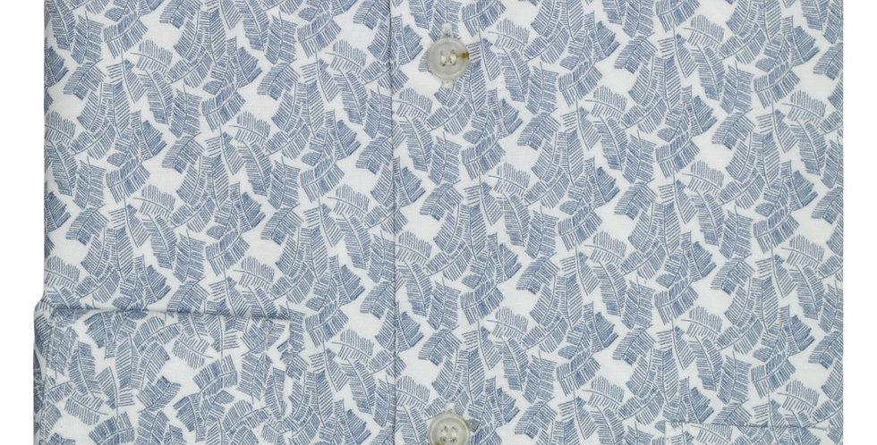 Blue Palm Leaf Shirt