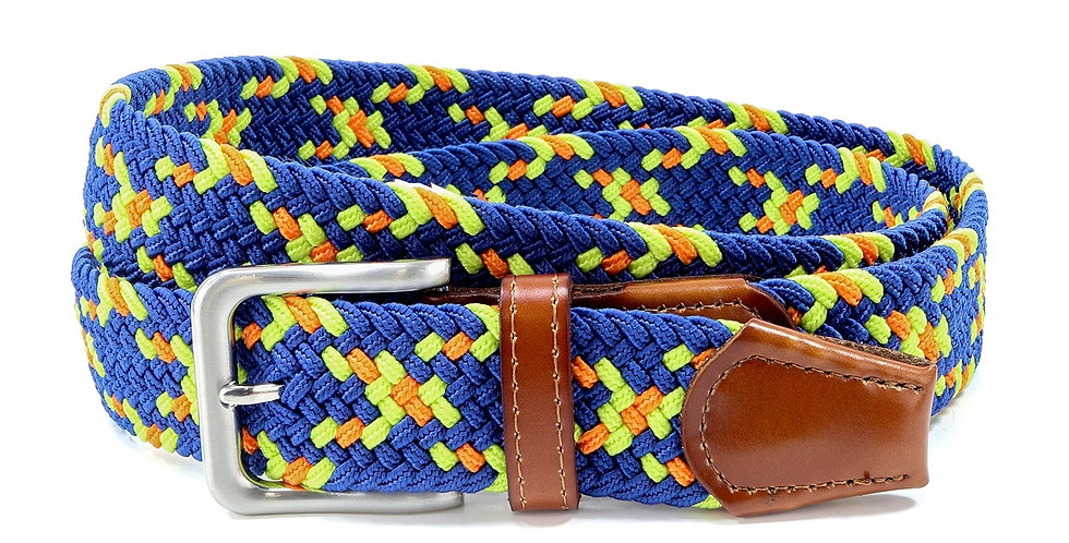 Royal Blue Speckled Woven Belt