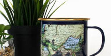 Enamel Navy Map Mug