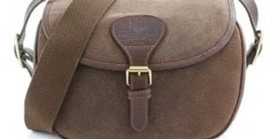 Brown Waxed Canvas 'Cartridge' Bag