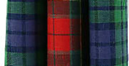 Set Of Three Tartan Hankies