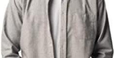 Brushed Cotton Grey Shirt