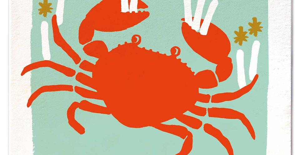 Crab Happy Birthday Large Card