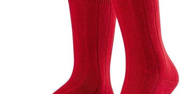 Red Cashmere Blend Socks
