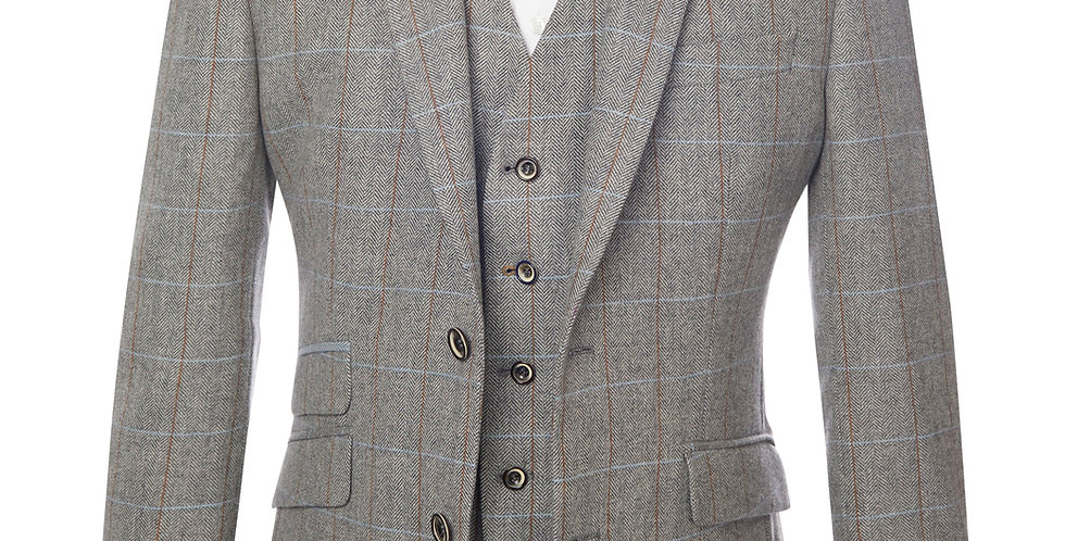 Light Grey Checked Jacket