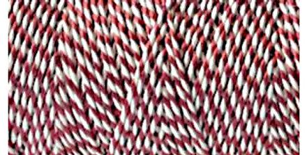 Metallic Red & White Twine