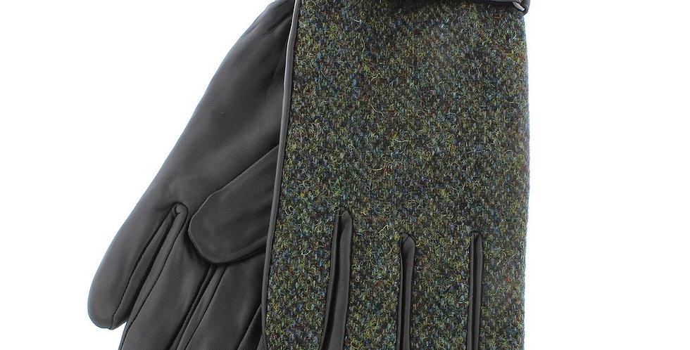 Green Harris Tweed & Leather Gloves