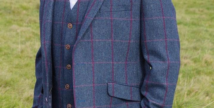 Blue Checked Tweed Jacket