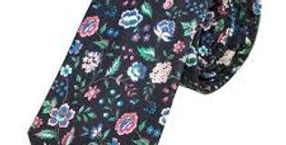 Liberty Black 'Rousseau' Fabric Tie