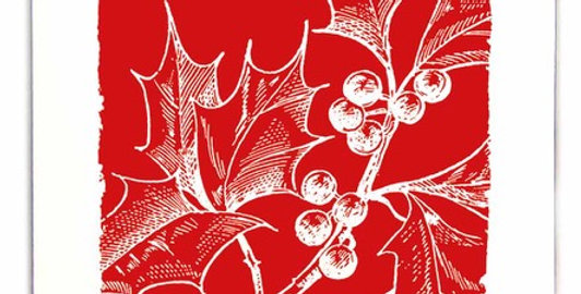Red Holly Note Card