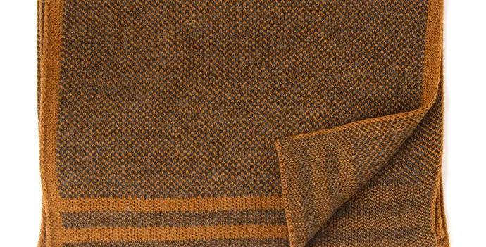 Fine Knitted Mustard Scarf