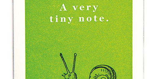 Tiny Snail Note Card