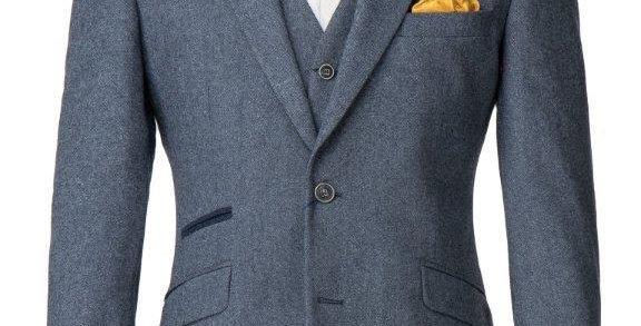 Blue Donegal Tweed Jacket
