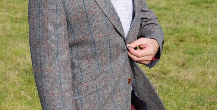 Grey Checked Tweed Jacket